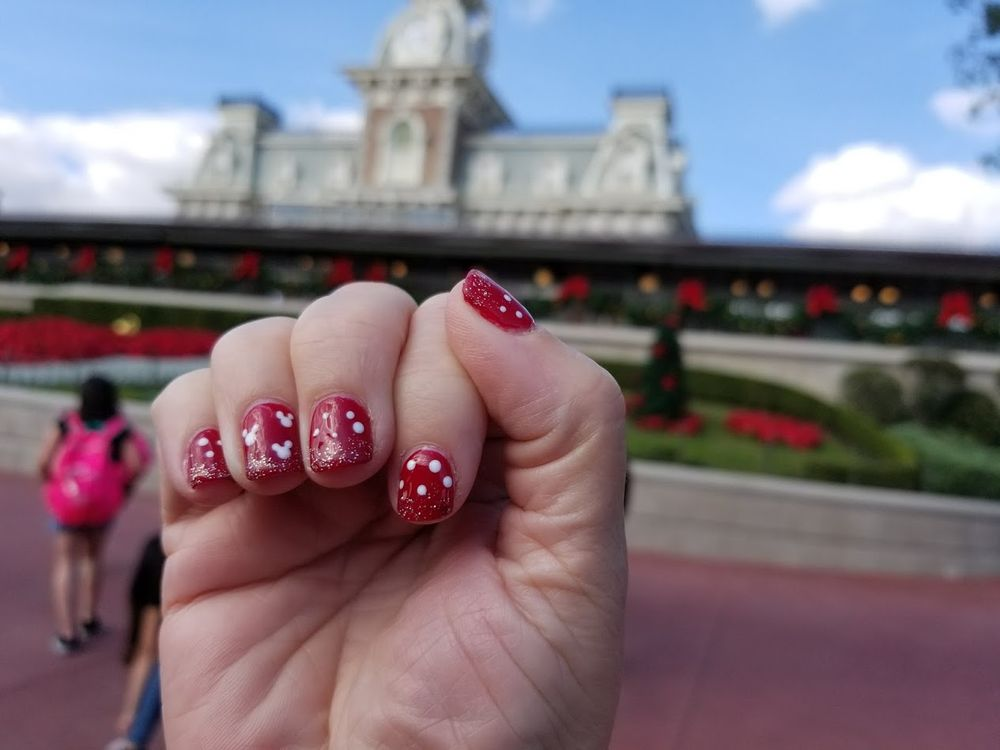 Such a fun cute nail design for our trip to Disney World! Thank you ...