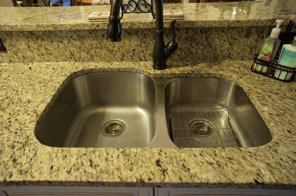 3CM New Venetian Gold Granite Countertops Undermount Kitchen Sink Yelp