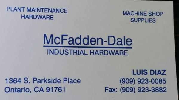 McFadden Dale Hardware 1364 S Parkside Pl Ontario, CA Home