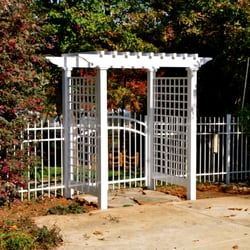Photo Of Champion Fence Builders Charlotte Nc United States White Aluminum W
