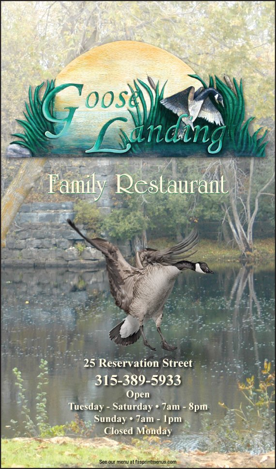 Goose Landing Family Restaurant: 25 Reservation St, Winthrop, NY