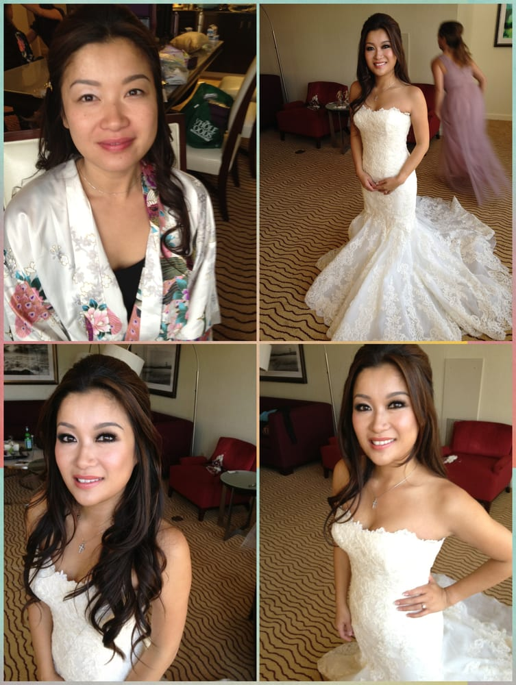 beautiful Asian bridal hair and makeup before and after - Yelp