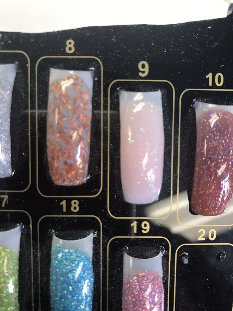 I wanted this colored powder (#9) but without the glitter. The nail ...