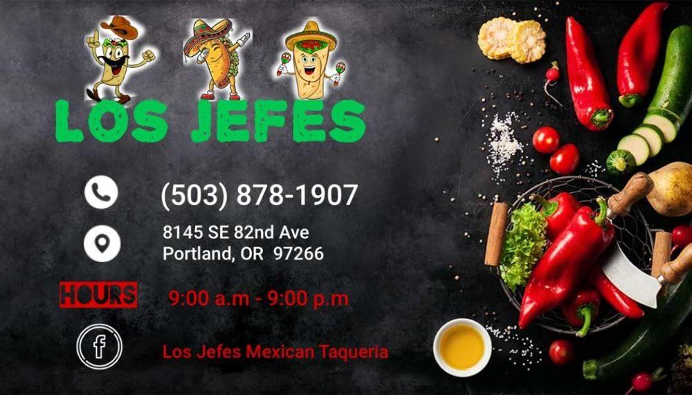 Los Jefes: 8145 SE 82nd Ave, Portland, OR