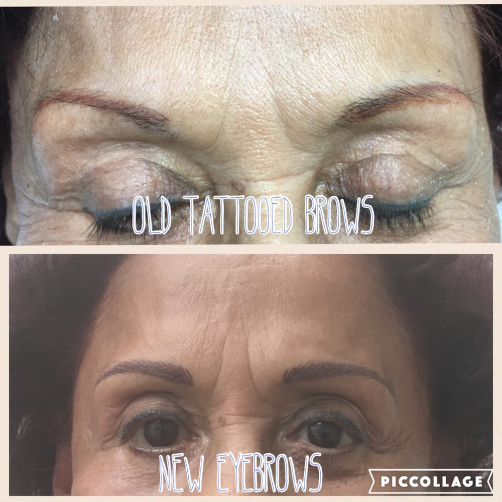Kids did a fabulous job covering up the old tattoo yelp for 3d eyebrow tattoo el monte ca