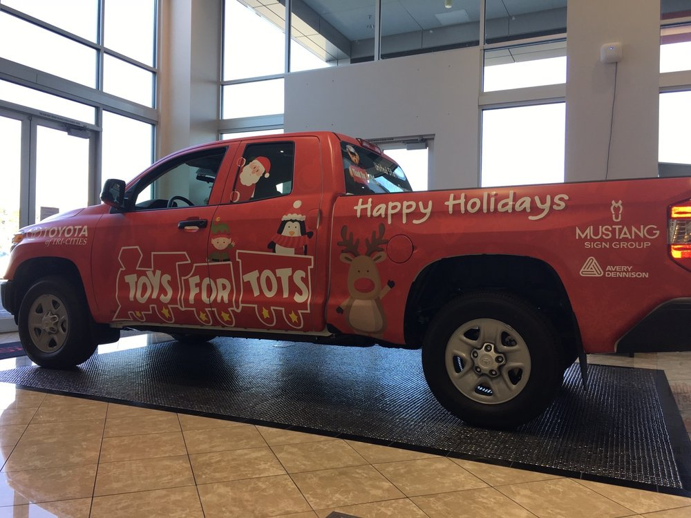 Toyota Of Tri Cities Kennewick Wa >> Toys for Tots wrapped Tundra - Yelp