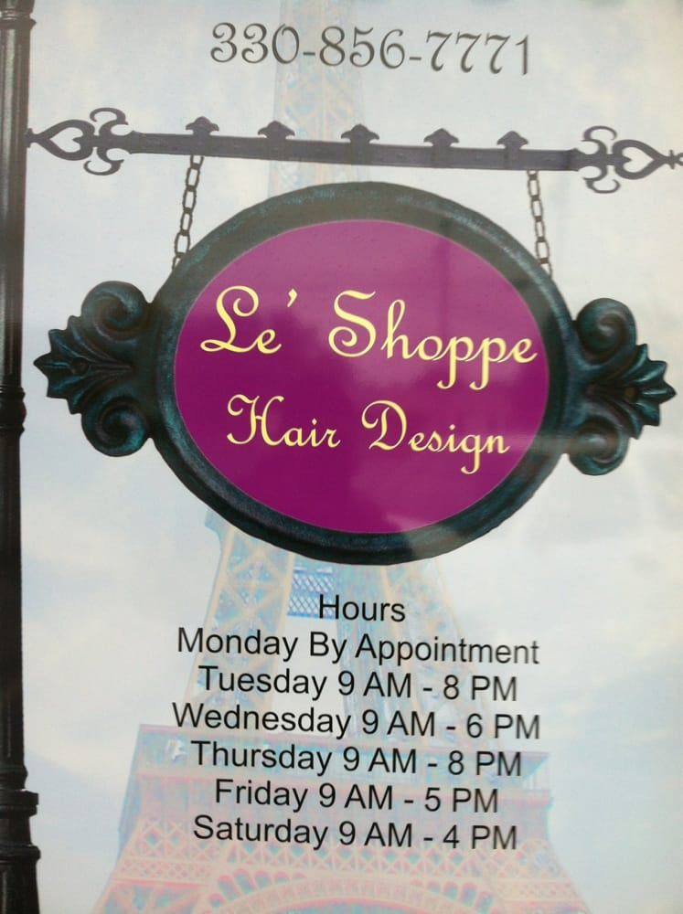 Le Shoppe Hair Designs: 8024B E Market St, Warren, OH