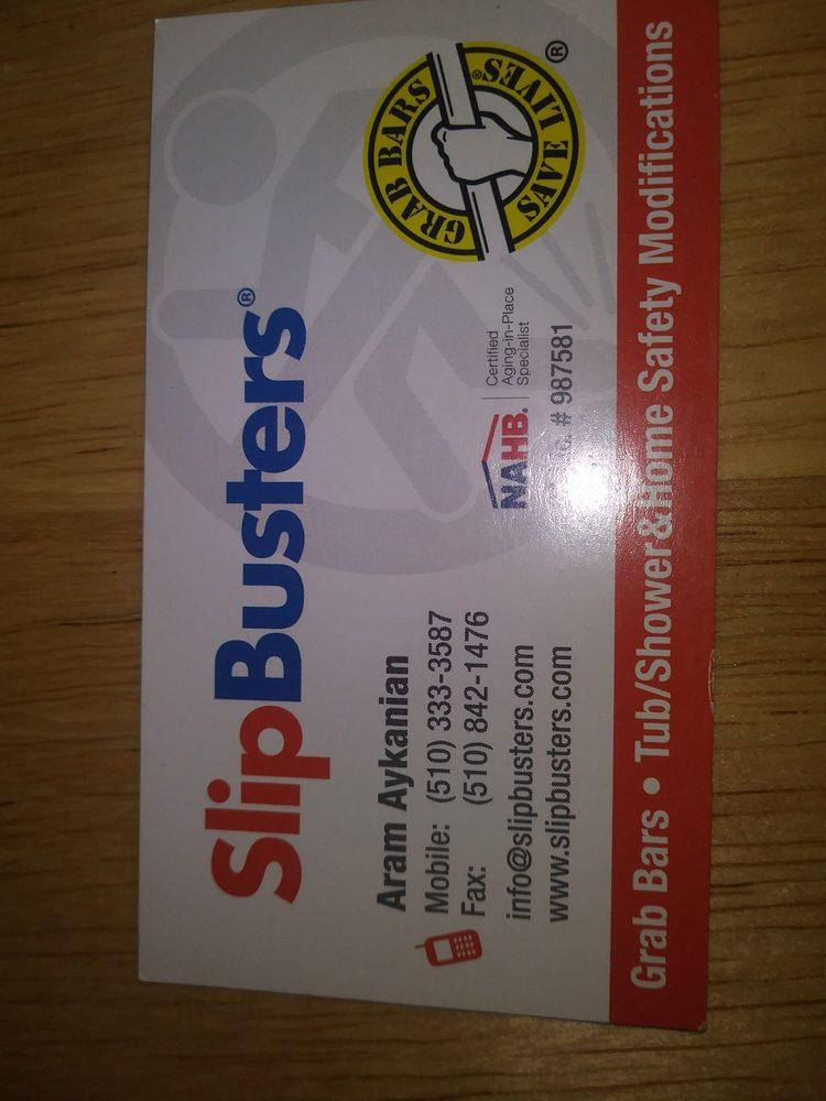 Slip Busters business card (Aram) - Yelp