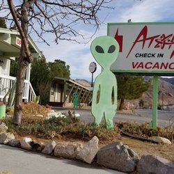 Photo Of Atomic Inn Beatty Nv United States Martian Alien Theme