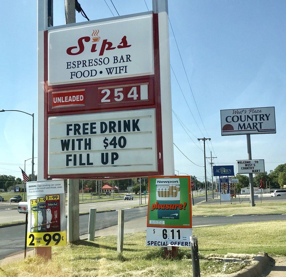Sips Espresso Bar: 2000 N Buckeye Ave, Abilene, KS