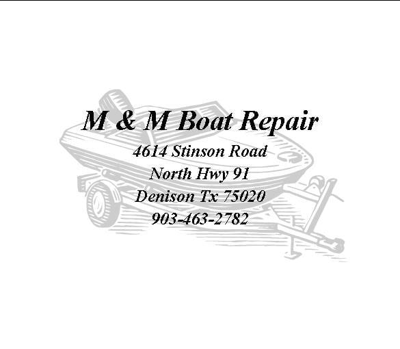 M & M Boat Repair: 4614 Stinson Rd, Denison, TX