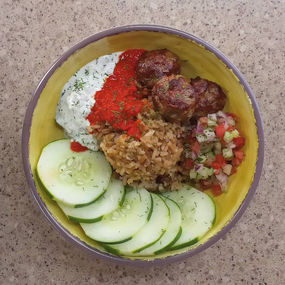 Zoe Kitchen: Lamb Kafta Power Grain Bowl