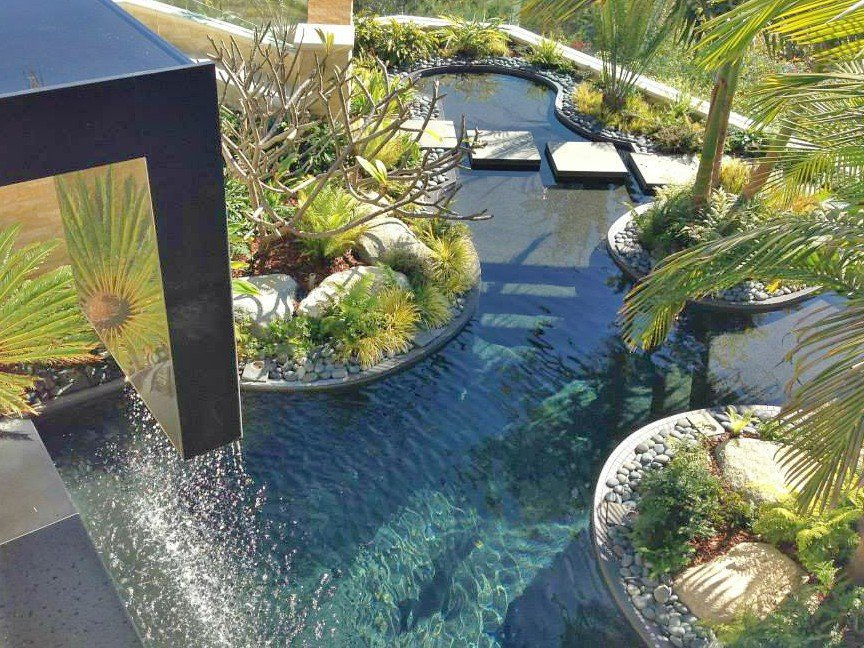 Looking Down On The Multi Level Pool In Point Loma Built