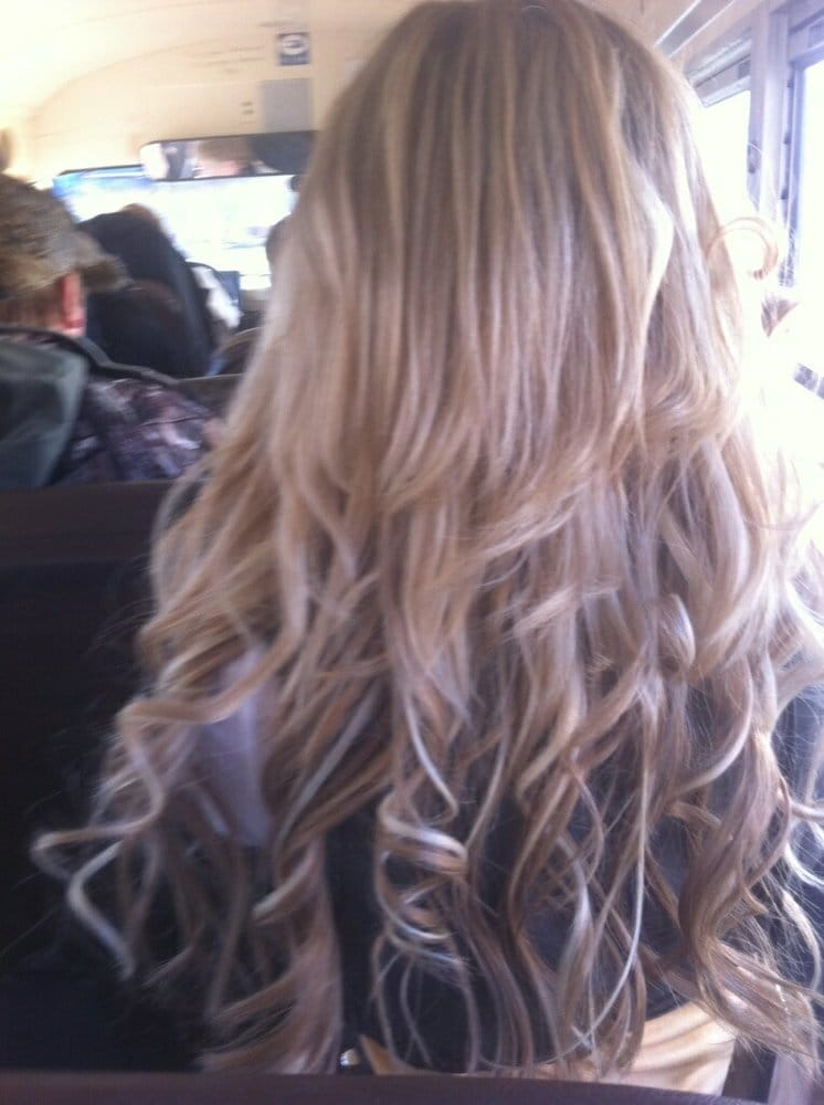 Above Shoulder Length Heavily Highlighted Blonde Hair To Mid Lower