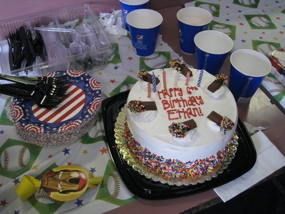 Large Round Red Velvet Cake W Cake Batter Ice Cream And Sprinkles
