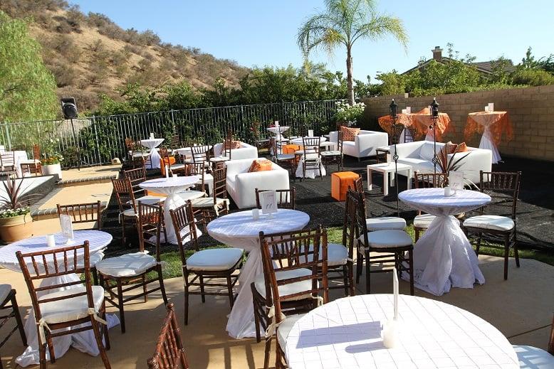 White Lounge Furniture Setup Wedding Los Angeles Chiavari