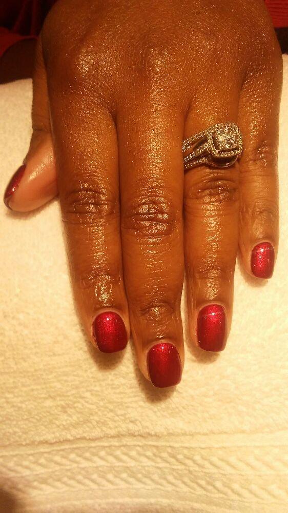 Acylic nail fill-ins with gel polish - Yelp