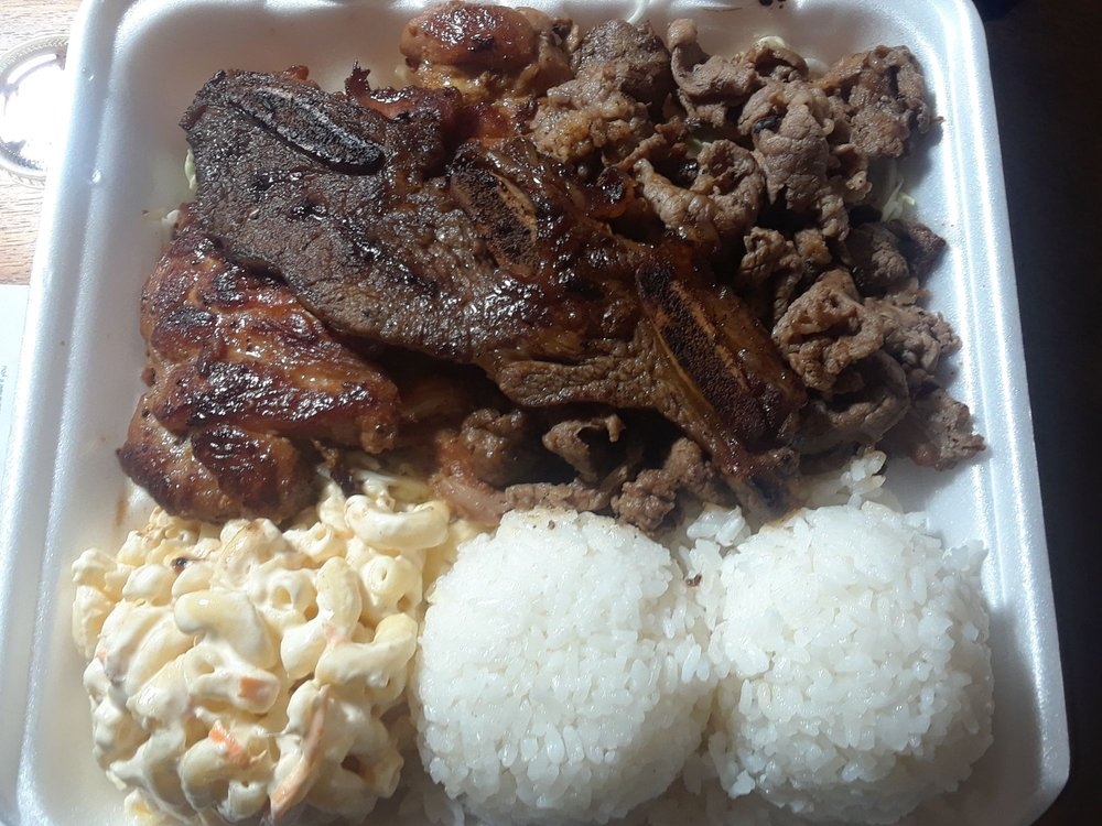 Food from L&L Hawaiian Barbecue