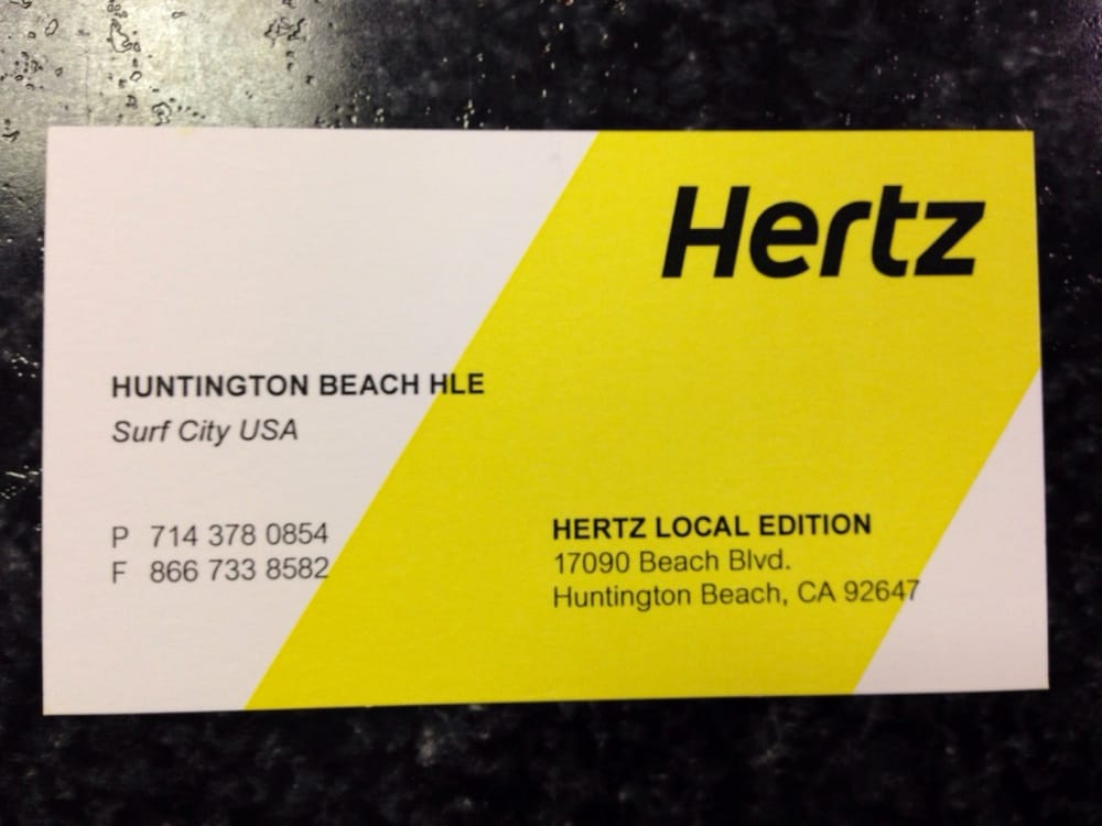 Hertz Car Rental Huntington Beach Ca