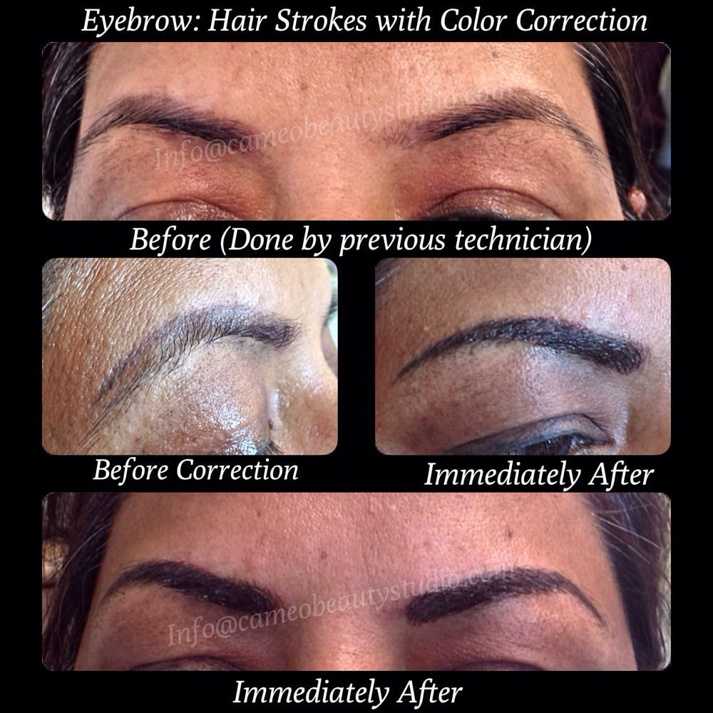 Eyebrow Tattoo: colour correction, camouflage, and shape design. - Yelp