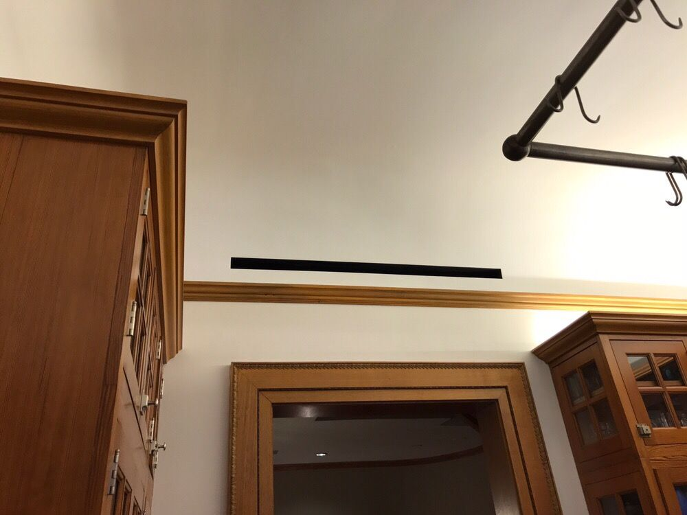 Taped in architectural linear slot diffuser - Yelp