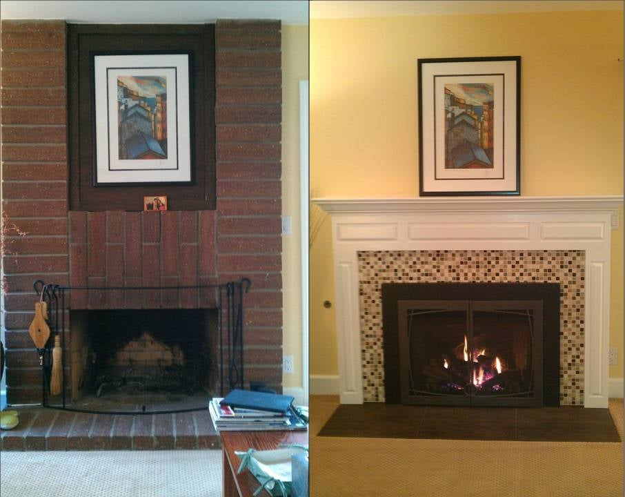 Our Fireplace Before And After