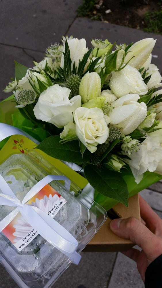 Asked for a small white bouquet and it turned out beautifully! - Yelp