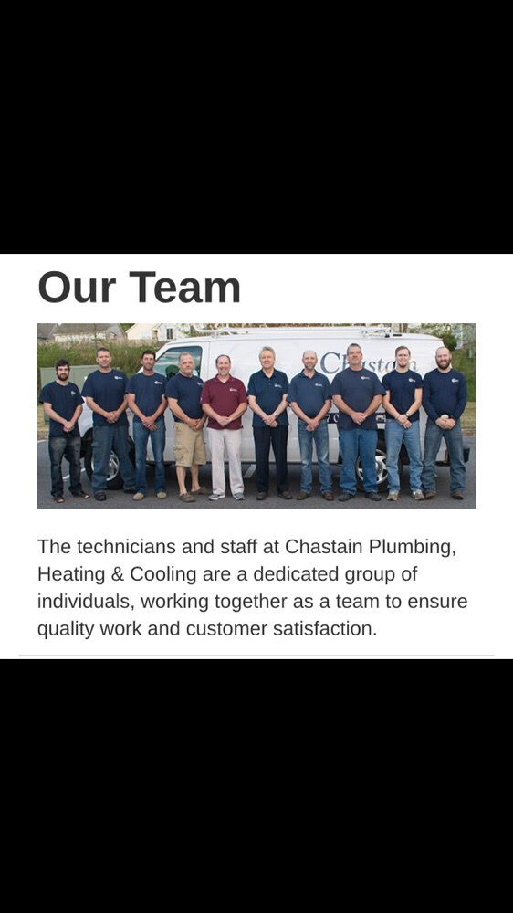 Chastain Plumbing, Heating and Cooling: 800 Burnt Hickory Rd, Cartersville, GA