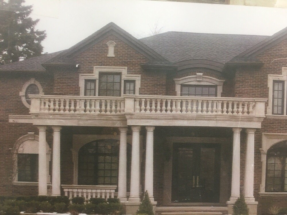 Stone Oak Elevation : Exterior elevation columns balustrades yelp