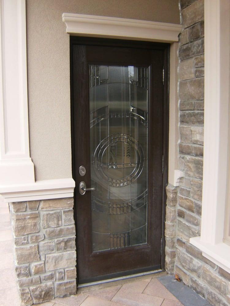 Fiberglass Door With Custom Glass Insert Yelp