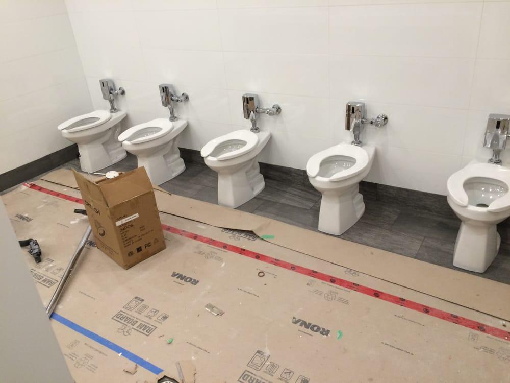 Public washroom Toto hands free flush valves - Yelp