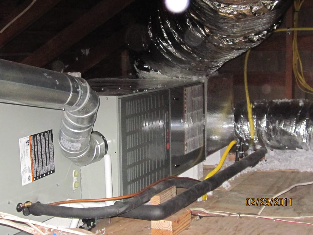 New Trane XR15 System - indoor gas furnace and evaporator
