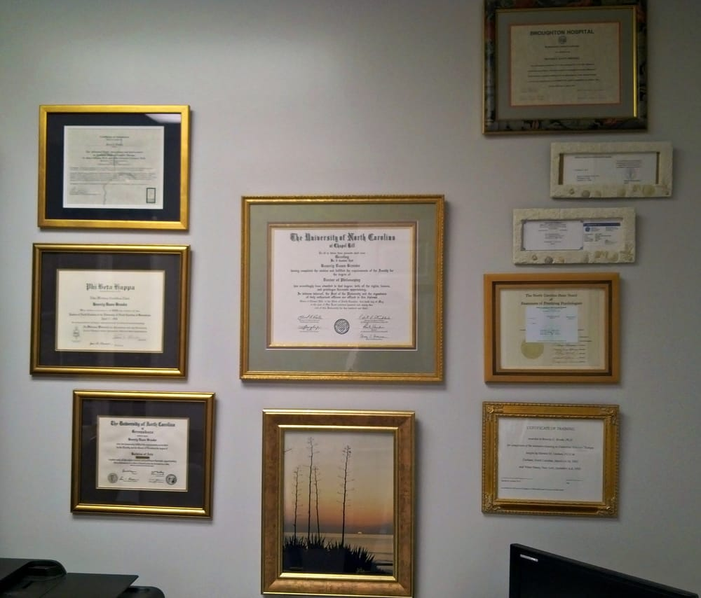 Wall Of Certificates Yelp