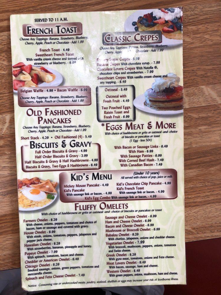 U.S. 6 Diner: 1103 E Market St, Nappanee, IN