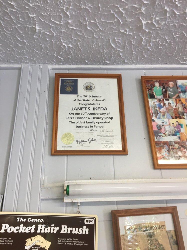 Jan's Barber & Beauty Shop: 58 Pahoa Government Rd, Pahoa, HI