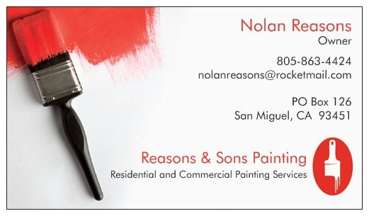 Reasons & Sons Painting: San Miguel, CA
