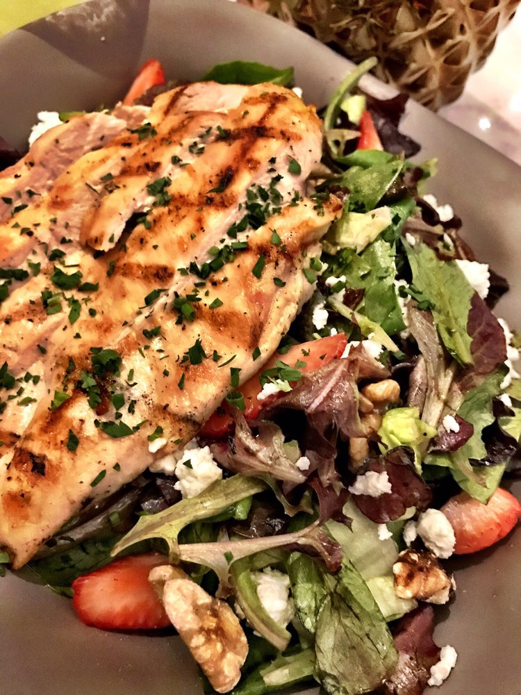 Strawberry and goat cheese salad with chicken yelp for Farm and craft scottsdale