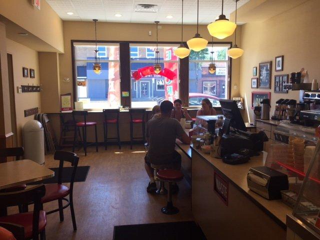 Ellie's Ice Cream & Coffee: 204 Keller Ave N, Amery, WI