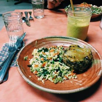 Photo Of Juliau0027s Kitchen   Boulder, CO, United States. Veggie Burger Platter