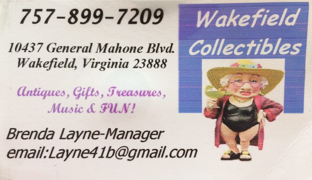 Wakefield Collectibles: 10437 General Mahone Blvd, Wakefield, VA
