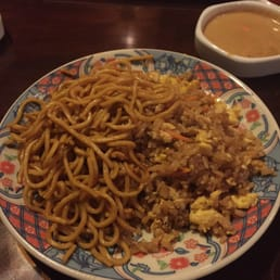 Mt. Fuji Restaurants - Hasbrouck Heights, NJ, United States. Fried rice and noodles (amazing)