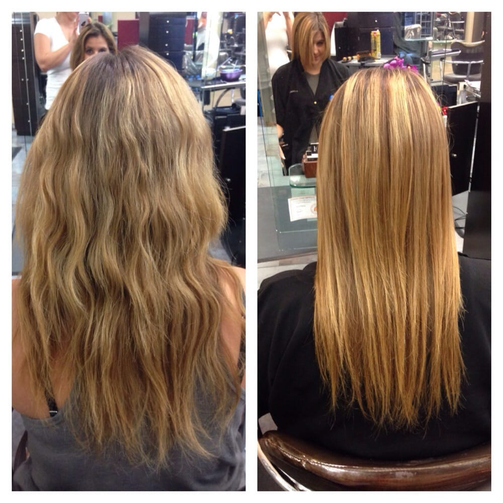 A before and after: Did just a Malibu treatment which takes out ...