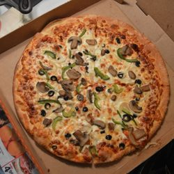 Little caesars veggie pizza
