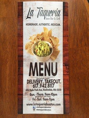 La Taqueria Taco Bar & Grill 636 Hyde Park Ave Roslindale