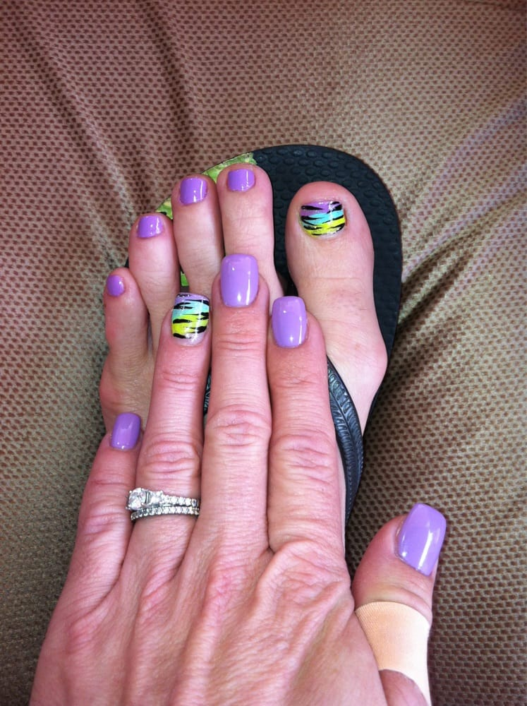 Another great el mani design with matching toes!! Love them!! - Yelp
