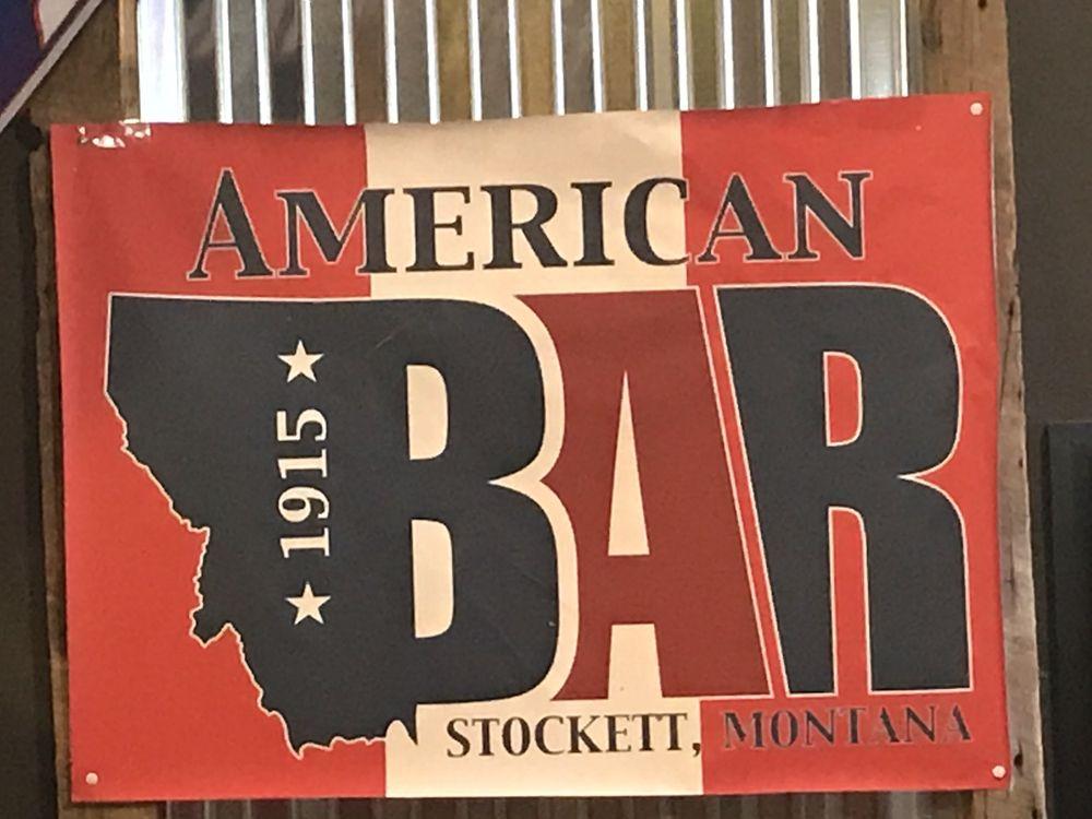 American Bar: 6 Front St, Stockett, MT
