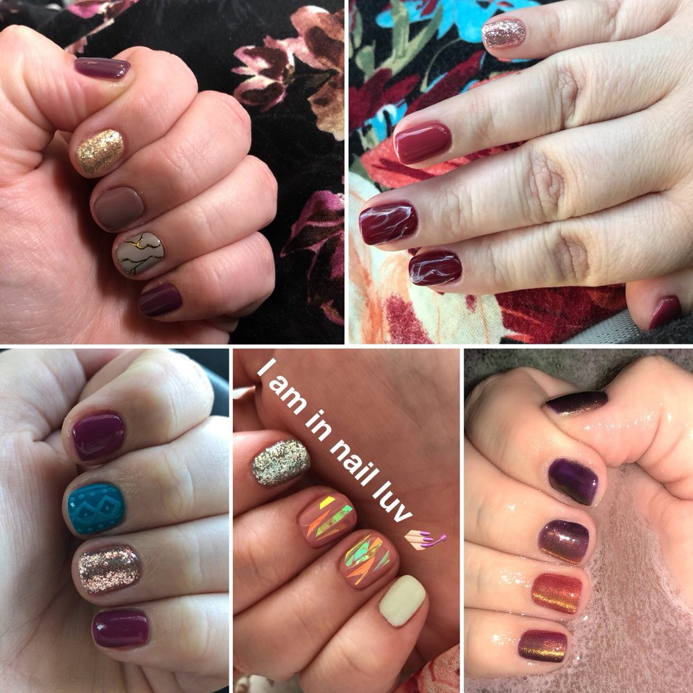 Most but not all of the beautiful sets of nails that Jenya has given ...