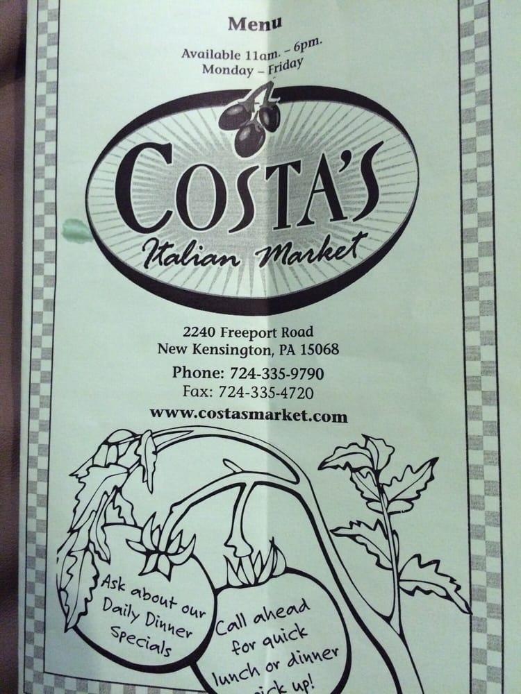 Costa Market: 2240 Freeport Rd, New Kensington, PA