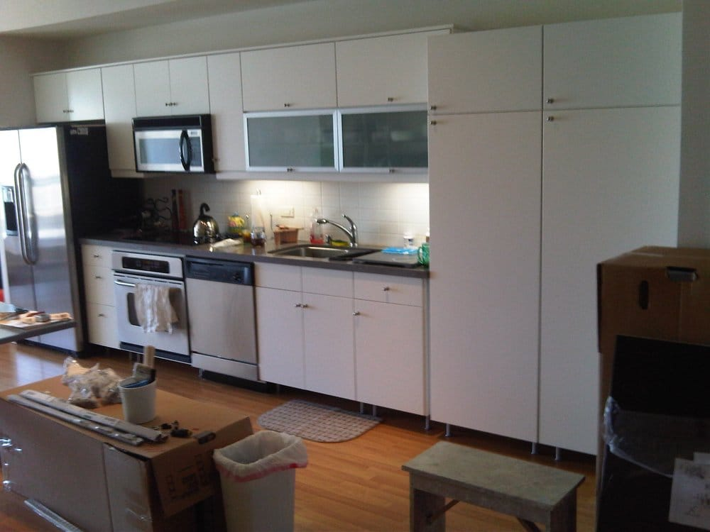 Ikea kitchen cabinets yelp for Assembling ikea kitchen cabinets