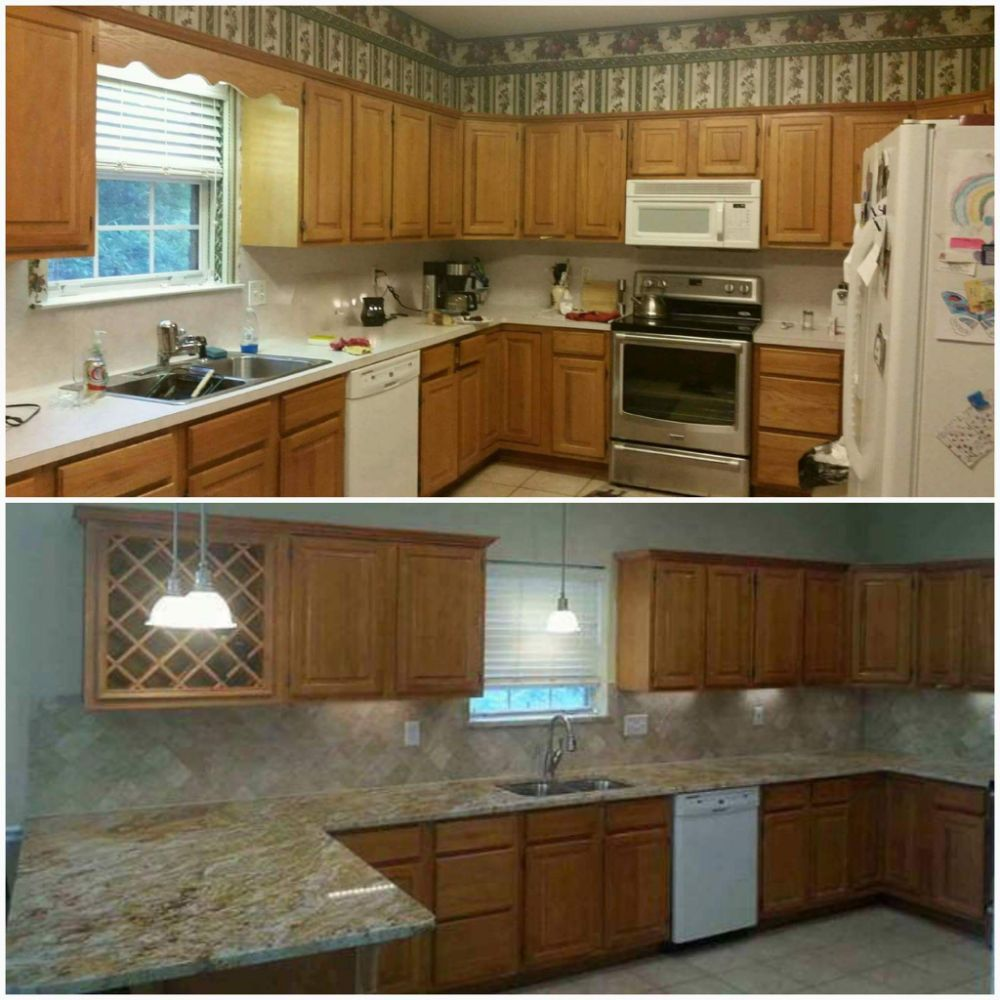 New Kitchen Before And After: Before And After Refresh To A Kitchen New Countertops And